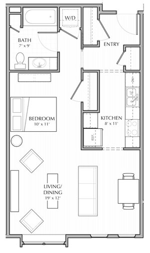 Galley kitchen floor plan galley kitchen floor plans for Galley kitchen floor plans